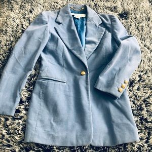ESCADA Corduroy vintage Blazer light blue Sz 6US